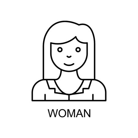 female employee line icon. Element of human resources icon for mobile concept and web apps. Thin line female employee icon can be used for web and mobile. Premium icon on white background