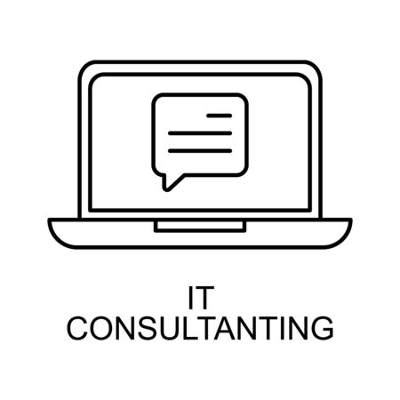 it consulting line icon. Element of human resources icon for mobile concept and web apps. Thin line it consulting icon can be used for web and mobile. Premium icon on white background Illustration