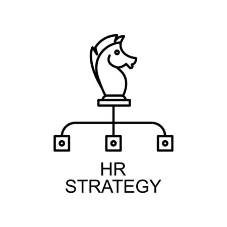 HR strategy line icon. Element of human resources icon for mobile concept and web apps. Thin line HR strategy icon can be used for web and mobile. Premium icon on white background