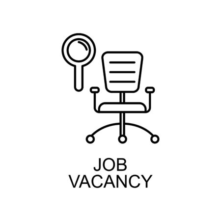 job vacancy line icon. Element of human resources icon for mobile concept and web apps. Thin line job vacancy icon can be used for web and mobile. Premium icon on white background Illustration