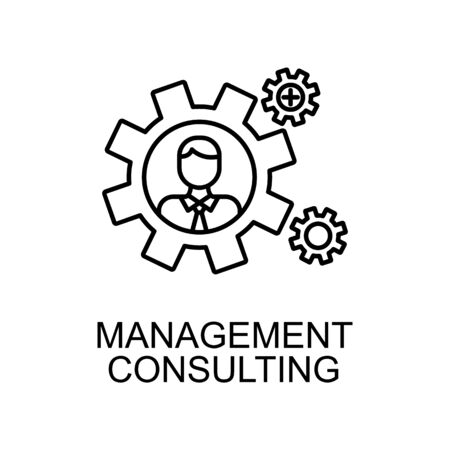 management consulting line icon. Element of human resources icon for mobile concept and web apps. Thin line management consulting icon can be used for web and mobile. Premium icon on white background Illustration