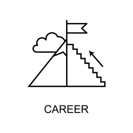 career growth line icon. Element of human resources icon for mobile concept and web apps. Thin line career growth icon can be used for web and mobile. Premium icon on white background Illustration
