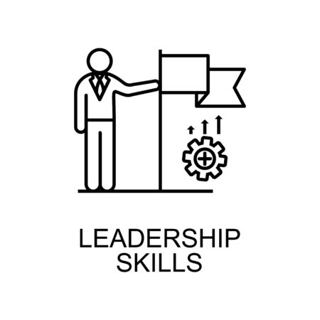 leadership skills line icon. Element of human resources icon for mobile concept and web apps. Thin line leadership skills icon can be used for web and mobile. Premium icon on white background