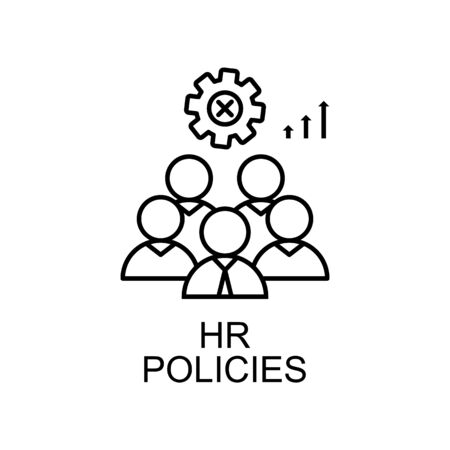 hr policies line icon. Element of human resources icon for mobile concept and web apps. Thin line hr policies icon can be used for web and mobile. Premium icon on white background Illustration