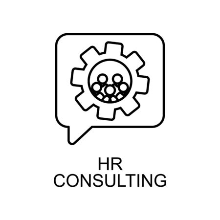 hr consulting line icon. Element of human resources icon for mobile concept and web apps. Thin line hr consulting icon can be used for web and mobile. Premium icon on white background