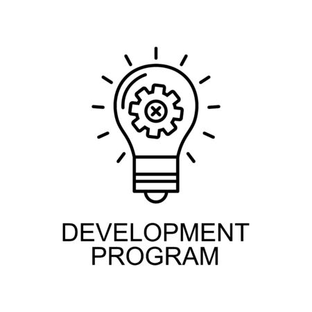 development program line icon. Element of human resources icon for mobile concept and web apps. Thin line development program icon can be used for web and mobile. Premium icon on white background