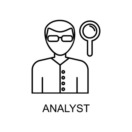 analyst line icon. Element of human resources icon for mobile concept and web apps. Thin line analyst icon can be used for web and mobile. Premium icon on white background