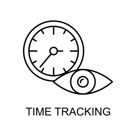 time tracking line icon. Element of human resources icon for mobile concept and web apps. Thin line time tracking icon can be used for web and mobile. Premium icon on white background