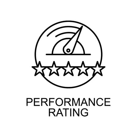 perfomance rating line icon. Element of human resources icon for mobile concept and web apps. Thin line perfomance rating icon can be used for web and mobile. Premium icon on white background
