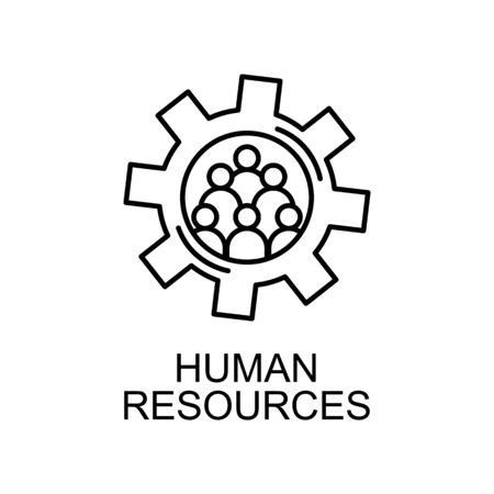 people in the mechanism line icon. Element of human resources icon for mobile concept and web apps. Thin line people in the mechanism icon can be used for web and mobile on white background