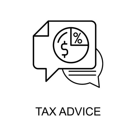 tax advice line icon. Element of human resources icon for mobile concept and web apps. Thin line tax advice icon can be used for web and mobile. Premium icon on white background
