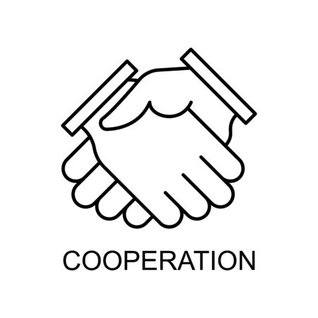cooperation line icon. Element of human resources icon for mobile concept and web apps. Thin line cooperation icon can be used for web and mobile. Premium icon on white background