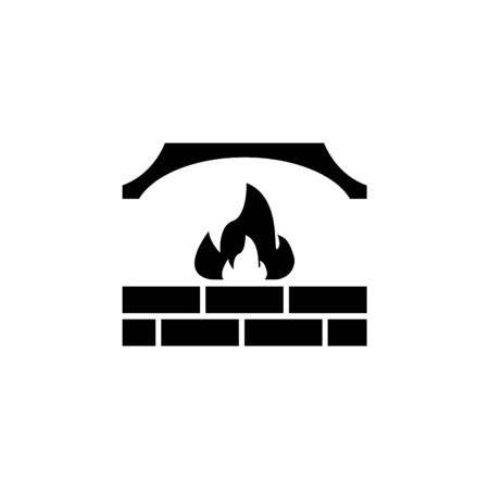 fireplace. Elements of heating system Icon. Premium quality graphic design. Signs, outline symbols collection, simple icon for websites, web design, mobile app on white background