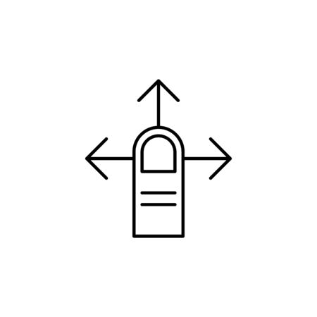 finger swipe gesture outline icon. Signs and symbols can be used for web, logo, mobile app, UI, UX on white background