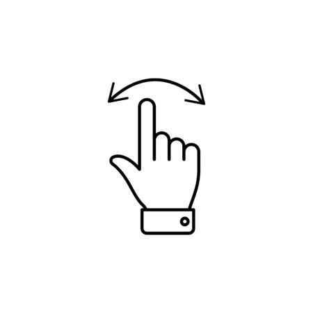 move left and right swipe finger gesture outline icon. Signs and symbols can be used for web, logo, mobile app, UI, UX on white background