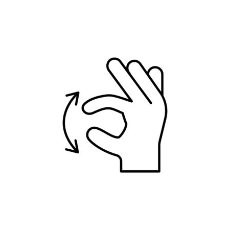 move swipe finger gesture outline icon. Signs and symbols can be used for web, logo, mobile app, UI, UX on white background