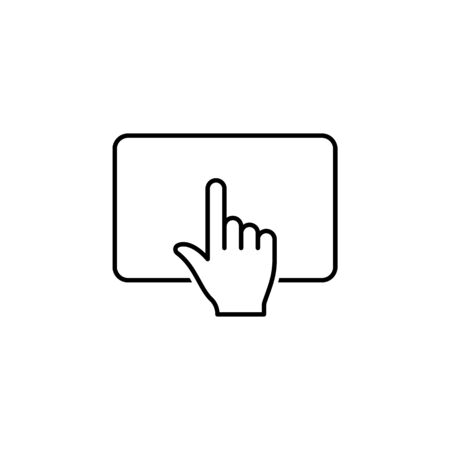 click touchpad touch gesture outline icon. Signs and symbols can be used for web, logo, mobile app, UI, UX on white background