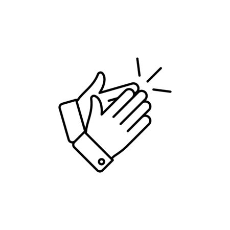 hands applause outline icon. Signs and symbols can be used for web, logo, mobile app, UI, UX on white background Illustration