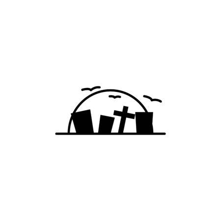 Cemetery icon. Element of ghost elements illustration. Thin line illustration for website design and development, app development. Premium icon on white background Vektoros illusztráció