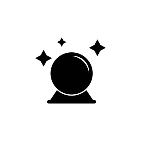 magic ball icon. Element of ghost elements illustration. Thin line  illustration for website design and development, app development. Premium icon on white background