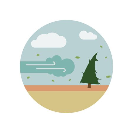 disaster, gust, Hurricane, tree color icon. Element of global warming illustration. Signs and symbols collection icon for websites, mobile app on white background on white background Illustration
