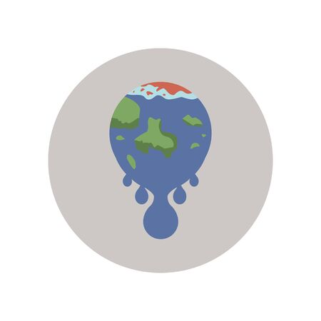 Melting, global, disaster, pole, warming color icon. Element of global warming illustration. Signs and symbols collection icon for websites, mobile app on white background on white background
