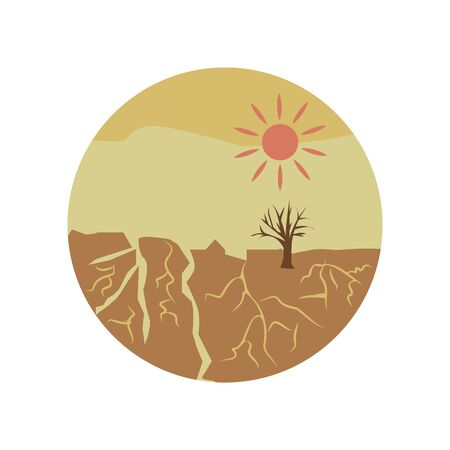 drought disaster color icon. Element of global warming illustration. Signs and symbols collection icon for websites, web design, mobile app on white background on white background Illustration