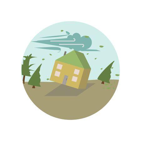 Coup de vent, cyclone, ouragan, icône de couleur venteuse. Élément d'illustration du réchauffement climatique. Icône de collection de signes et de symboles pour sites Web, conception de sites Web, application mobile sur fond blanc sur fond blanc