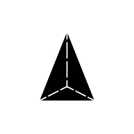 tetrahedron icon. Elements of Geometric figure icon for concept and web apps. Illustration  icon for website design and development, app development. Premium icon on white background