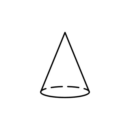 cone icon. Geometric figure Element for mobile concept and web apps. Thin line  icon for website design and development, app development. Premium icon on white background on white background