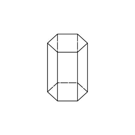 sechseckiges Prisma-Symbol. Geometrische Figur Element für mobiles Konzept und Web-Apps. Dünnes Liniensymbol für Website-Design und -Entwicklung, App-Entwicklung. Premium-Symbol weißer Hintergrund auf weißem Hintergrund