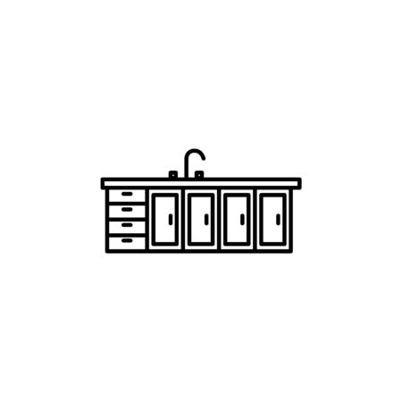 kitchen furniture icon. Element of furniture for mobile concept and web apps. Thin line  icon for website design and development, app development. Premium icon on white background