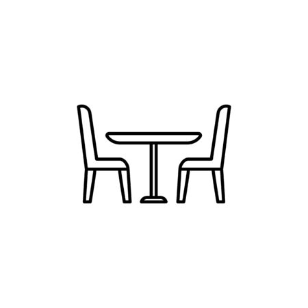table and chairs icon. Element of furniture for mobile concept and web apps. Thin line  icon for website design and development, app development. Premium icon on white background 일러스트