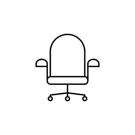 wheelchair icon. Element of furniture for mobile concept and web apps. Thin line  icon for website design and development, app development. Premium icon on white background