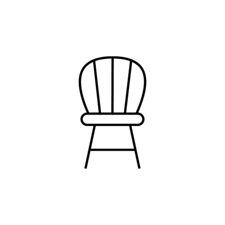 chair icon. Element of furniture for mobile concept and web apps. Thin line  icon for website design and development, app development. Premium icon on white background