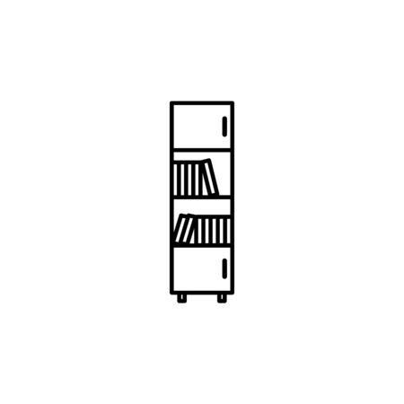 bookcase icon. Element of furniture for mobile concept and web apps. Thin line  icon for website design and development, app development. Premium icon on white background 일러스트