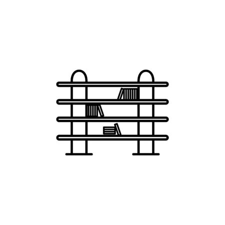 long bookcase icon. Element of furniture for mobile concept and web apps. Thin line  icon for website design and development, app development. Premium icon on white background