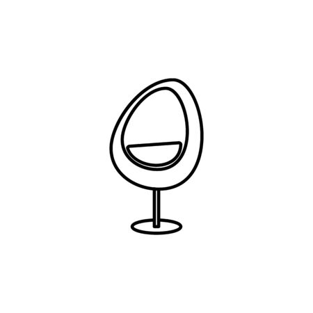 egg chair icon. Element of furniture for mobile concept and web apps. Thin line  icon for website design and development, app development. Premium icon on white background Illustration