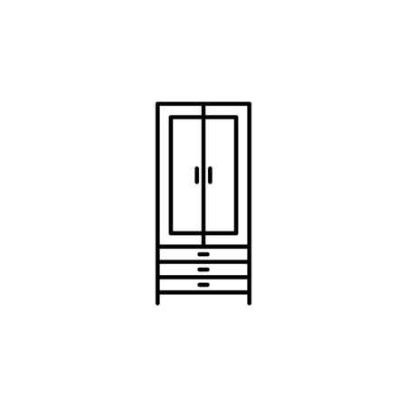wardrobe icon. Element of furniture for mobile concept and web apps. Thin line  icon for website design and development, app development. Premium icon on white background Illustration