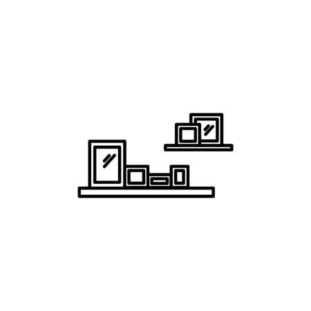 a shelf icon. Element of furniture for mobile concept and web apps. Thin line  icon for website design and development, app development. Premium icon on white background