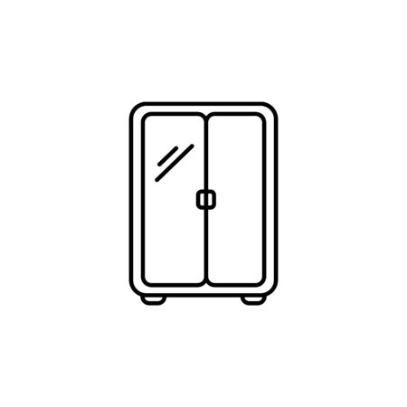 wardrobe icon. Element of furniture for mobile concept and web apps. Thin line  icon for website design and development, app development. Premium icon on white background 일러스트
