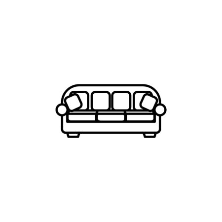 sofa icon. Element of furniture for mobile concept and web apps. Thin line  icon for website design and development, app development. Premium icon on white background 일러스트
