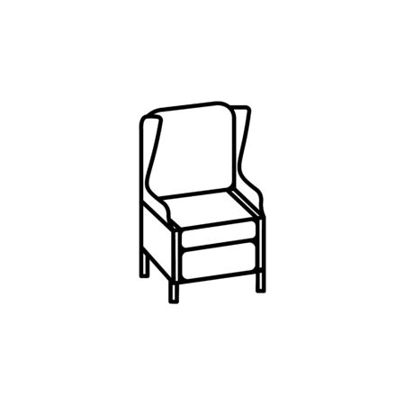 armchair icon. Element of furniture for mobile concept and web apps. Thin line  icon for website design and development, app development. Premium icon on white background