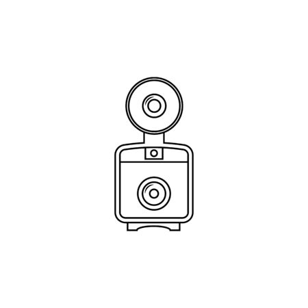 flash for camera icon.Element of popular camera icon. Premium quality graphic design. Signs, symbols collection icon for websites, web design, on white background 일러스트