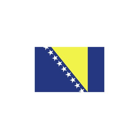 flag of Bosnia and Herzegovina colored icon. Elements of flags illustration icon. Signs and symbols can be used for web, logo, mobile app, UI, UX on white background