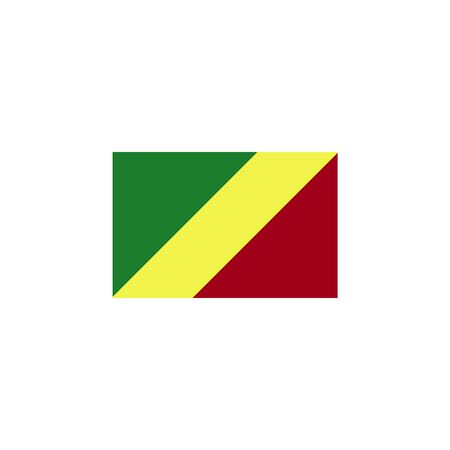 flag of Congo colored icon. Elements of flags illustration icon. Signs and symbols can be used for web, logo, mobile app, UI, UX on white background Ilustrace