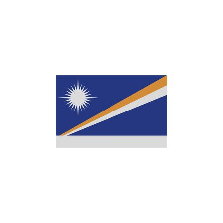flag of Marshall islands colored icon. Elements of flags illustration icon. Signs and symbols can be used for web, logo, mobile app, UI, UX on white background Ilustração