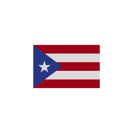 flag of Puerto Ricco colored icon. Elements of flags illustration icon. Signs and symbols can be used for web, logo, mobile app, UI, UX on white background