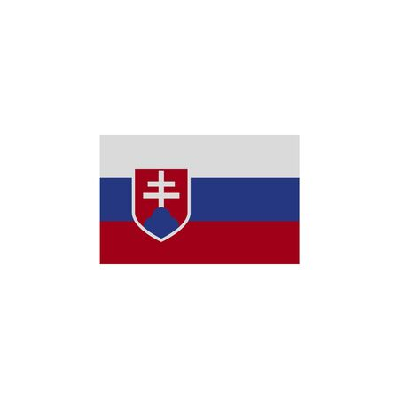 flag of Slovakia colored icon. Elements of flags illustration icon. Signs and symbols can be used for web, logo, mobile app, UI, UX on white background Ilustração