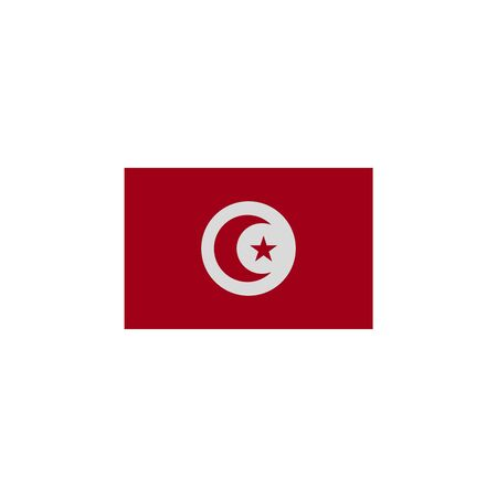 flag of Tunisia colored icon. Elements of flags illustration icon. Signs and symbols can be used for web, logo, mobile app, UI, UX on white background